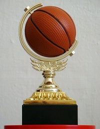 Spinning Basketball Trophy